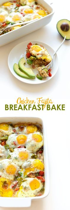 Got a baking dish? Throw together this easy, flavorful Chicken Fajita Breakfast Bake made with Gold'n Plump Tex Mex Chicken Patties for a low-carb breakfast!!