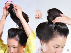 着物の髪型・ヘアスタイル '11 新日本髪の結い方 京染卸商業組合 this is Japanese tutorial for Japanese hairstyle. However, it gives good insight for styling Tang Dynasty Chinese hairstyles. Just a resource for my pin board regarding styling hair.