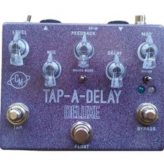 Cusack Music Tap-A-Delay Deluxe The Tap-A-Delay is a digital delay that mixes the original analog signal with the delayed signal. It is a bit gritty, and very analog flavored. This isn't a clean studio quality digital delay with perfect repeats, it' All The Way Down, Just The Way, Analog Signal, Music Instruments, Studio, Digital, Freeze, Play, Character