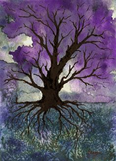 Tree of Life Art  Nature Gothic Landscape by BrazenDesignStudio, $25.00