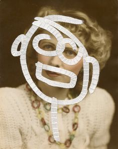 Julie Cockburn - Doodle Face 1 | From a unique collection of portrait photography at http://www.1stdibs.com/art/photography/portrait-photography/