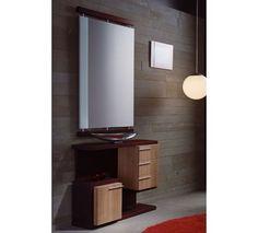 Mueble de entrada en la atractiva combinación de colores wengué y xacobeo.