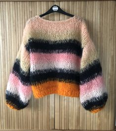 Knitwear Fashion, Mohair Sweater, Pullover, Color Blocking, Hand Knitting, Knit Crochet, About Me Blog, My Favorite Things, Bohemian