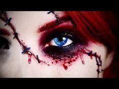 """Sexy"" Chucky Doll Halloween Makeup Tutorial   Jessica Harlow - YouTube"