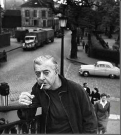 Robert Doisneau was a French photographer. In the he used a Leica on the streets of Paris. He and Henri Cartier-Bresson were pioneers of photojournalism Robert Doisneau, André Kertesz, Buster Keaton, Canal Saint Martin, Brassai, Writers And Poets, Black White, French Photographers, Portraits