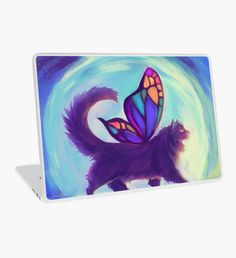 Rainbow Bridge Fairy Laptop Skin Macbook Pro Retina, Macbook Air, Surface Laptop, Rainbow Bridge, Laptop Decal, Laptop Skin, Kitten, Fairy, Color
