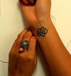 Love this tattoo. simple but cute. Heart and infinity tattoo