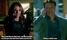 """Season 6:  Episode: """"Valkyrie""""  Castle is trying to make up for getting Kate into trouble."""