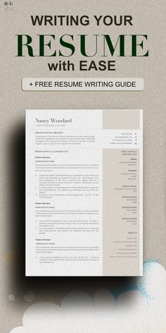 This Templates Include RESUME WRITING TIPS or RESUME GUIDE with how to write your cover letter as well. These include matching cover letter templates and Reference sheet template. Professional Resume Examples, Good Resume Examples, Modern Resume Template, Resume Templates, Cover Letter Template, Letter Templates, Best Resume, Free Resume, Effective Resume
