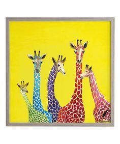 Love this Jellybean Giraffes Framed Wall Art on #zulily! #zulilyfinds