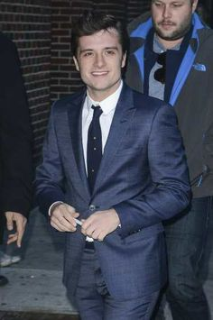 #JoshHutcherson enters the 'Late Show With David Letterman' taping at the #EdSullivanTheater on November 25, 2013 in New York City http://celebhotspots.com/hotspot/?hotspotid=6554&next=1