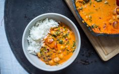 Roasted Red Pepper, Chickpea, and Spinach Curry [Vegan, Gluten-Free]   One Green Planet