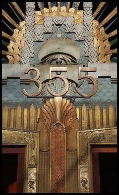 Art deco metalwork, Marine Building, Vancouver, 1930