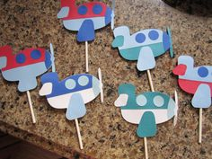 Hey, I found this really awesome Etsy listing at http://www.etsy.com/listing/126886236/one-dozen-airplane-cupcake-toppers