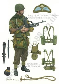 British Paratrooper 1944 (:Tap The LINK NOW:) We provide the best essential unique equipment and gear for active duty American patriotic military branches, well strategic selected.We love tactical American gear British Army Uniform, British Uniforms, Ww2 Uniforms, British Soldier, Military Uniforms, Military Gear, Military History, Mighty Power Rangers, Parachute Regiment
