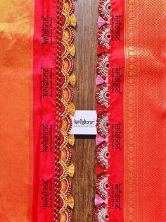 Saree Kuchu New Designs, Saree Tassels Designs, Wedding Saree Blouse Designs, Saree Blouse Neck Designs, Dress Neck Designs, Saree Wearing Styles, Hand Work Blouse Design, Designer Blouse Patterns, Hand Embroidery Designs