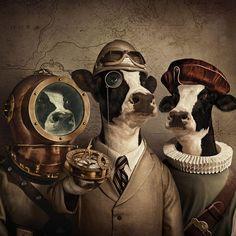 Les vaches aventurières - Andy Mahr  #Surreal #Steampunk