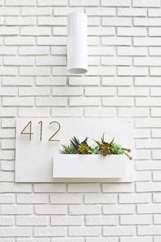 Modern address planter from A Beautiful Mess