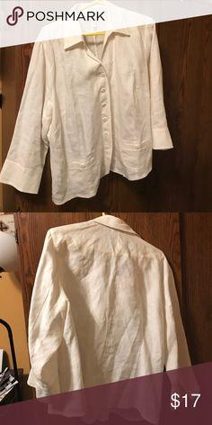 Linen shirt Cream linen shirt Talbots Tops Button Down Shirts