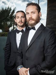 Shia LaBeouf and Tom Hardy- Tom Hardy w/ a beard... I'm in love.