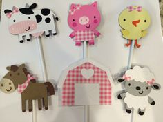 Arts And Crafts Stores Nyc Farm Animal Cupcakes, Farm Animal Party, Farm Animal Crafts, Farm Animal Birthday, Farm Birthday, Farm Party, Baby First Birthday, 2nd Birthday Parties, Farm Animals