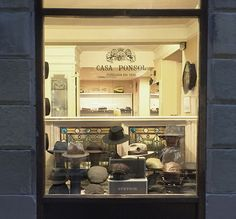Casa PONSOL. Headwear.  Iconic headwear shop. It's been there forever.
