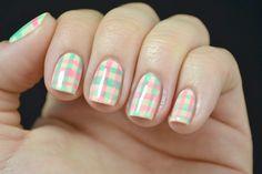Learn How To Get These Fun Plaid Nails | Beauty High