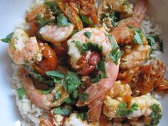 Simple and easy Sun Dried Tomato Shrimp.