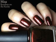 Misa's Winter High Society Review - Bourbon on the Rocks is a vampy blackened orange shimmer