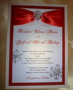 Sample Luxury Winter Wedding Invitation by TheRainbowColors