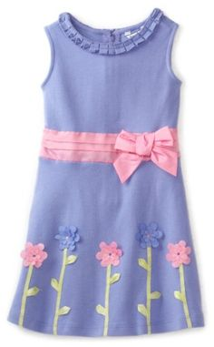 Amazon.com: Hartstrings Girls 2-6X Interlock Floral Zipped Dress, Sweet Lavender, 2T: Clothing