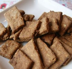 These Dog Treats Are Guaranteed To Get Your Dog Going- Homemade Apple Crisp Crackers