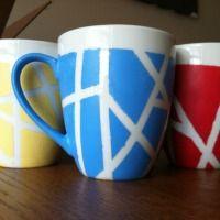 DIY Painted Coffee Mugs