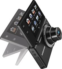 Samsung MV800 16.2 megapixel digital camera - small and lightweight, yet takes high resolution images. The screen flips to allow for more options, like taking self photos.