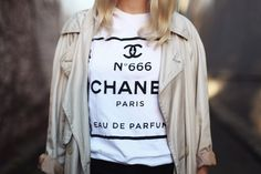 I want a Chanel tee!!! Even if it is fake Hahaha