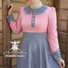 Modest Dresses, Stylish Dresses, Fashion Dresses, Girls Dresses, Fancy Dress Design, Stylish Dress Designs, Dress With Shawl, Iranian Women Fashion, Kurta Neck Design