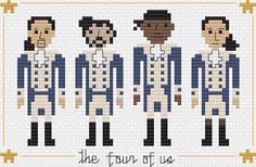 Hamilton Cross Stitch Pattern The Four of Us par SweetPrairieSkies