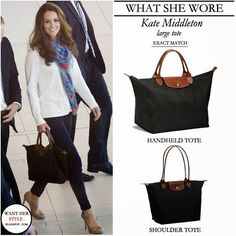 Longchamp Le Pliage and Kate Middleton
