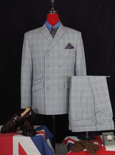tailor made double breasted suit mens, best mod shop uk, mod suit only Business Wear, Business Casual, Mod Suits, Double Breasted Suit, Mens Fashion, Blazer, Retro, Yellow, Jackets
