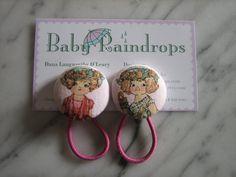 Blonde Vintage Paper Doll Ponytail holders sold by babyraindrops, $4.50