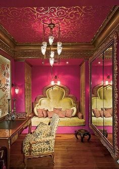 Glitzalicious ♥s this pin of a Pink Moroccan nook https://www.mycraftwork.com