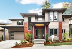 Architectural Designs Modern House Plan 23604JD comes to life. 3 beds, 2.5 baths and over 2,500 square feet of living space. Ready when you are. Where do YOU want to build?