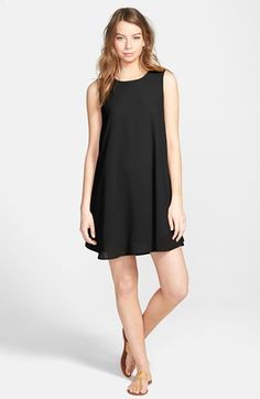 EVERLY Woven Shift Dress available at #Nordstrom