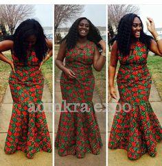 Robe de bal africain Akua / Ankara robe / Ankara par AdinkraExpo