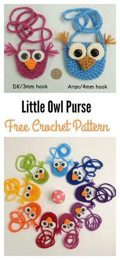 Little Owl Purses Free Crochet Pattern
