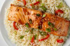honey-ginger-baked-salmon-jasmine-rice-179054 Image 1