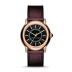 Marc Jacobs Womens Courtney Oxblood Leather Watch  MJ1491 -- Want to know more, click on the image.Note:It is affiliate link to Amazon.