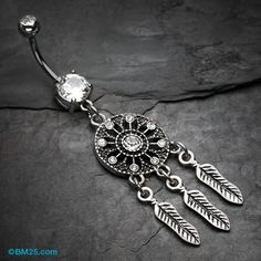 Vintage Boho Dreamcatcher Belly Button Ring