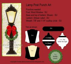 Alex's Creative Corner: Christmas lamp post punch art instructions