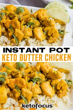 Keto Butter Chicken is protein-packed, full of natural spices, and low in carbs and sugar. Made in an Instant Pot to provide a healthy, lip-smacking dinner in under 30 minutes. Indian food is among the most flavorsome in the world and keto butter chicken is a delish example. Despite the healthy twist, the dish promises buttery spices and saucy curry. This flavorful meal makes for a delicious and easy keto dinner! | KetoFocus @ketofocus #ketobutterchicken #instantpotbutterchicken #ketofocus Low Carb Dinner Recipes, Keto Dinner, Lunch Recipes, Keto Recipes, Fall Recipes, Indian Food Recipes, Asian Recipes, Natural Spice, Chicken Recipes